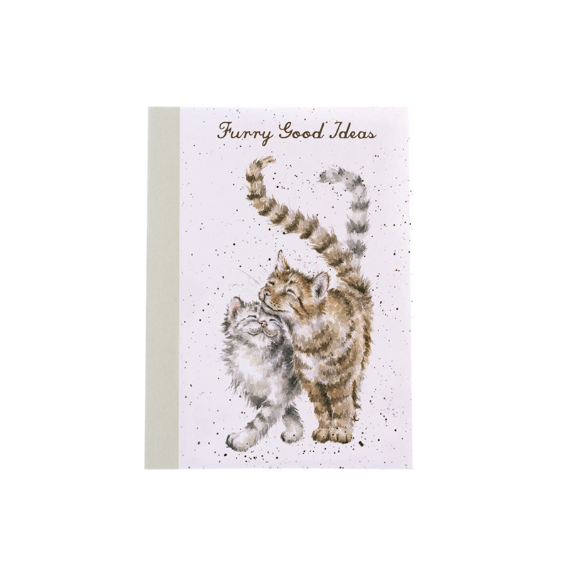"""Wrendale A6 Paperback Notebook """"Cats"""""""