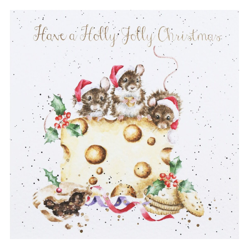 """Wrendale Boxed Christmas Cards  """"Holly Jolly Christmas"""""""