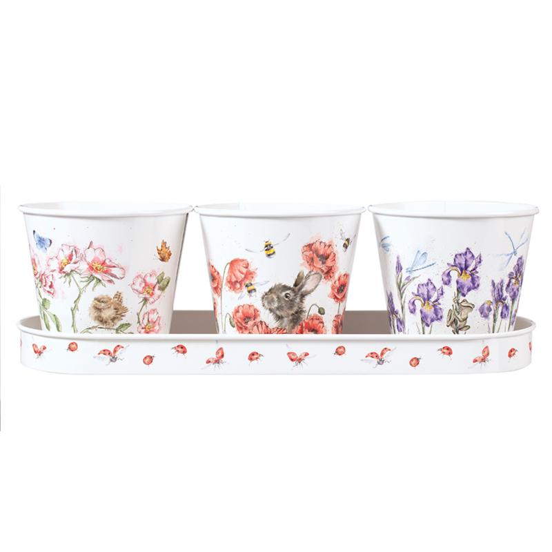 Wrendale Set of 3 Herb Pots - Floral