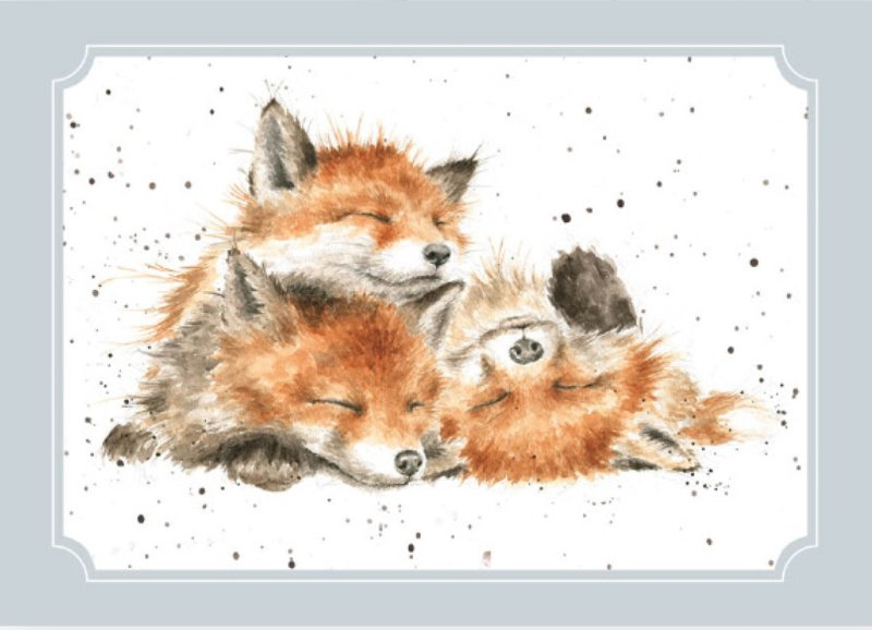 """Wrendale postcard """"The Afternoon Nap"""" - vosjes"""