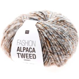 Rico Design | Fashion Alpaca Tweed Chunky - Brown - Blue 003