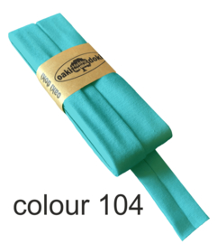 Tricot biaisband | Licht turquoise  | col. 104