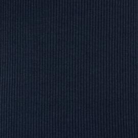 Boordstof | Heavy Rib | Indigo Melange 075