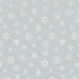 Decostof | Double Face | Kerst - IJssterren - Lichtblauw - Glitter Zilver