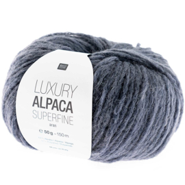 Rico Design - Luxury Alpaca Superfine Aran - blauw Grijs 017