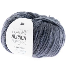 Rico Design - Luxury Alpaca Superfine Aran - blauw Grijs 017