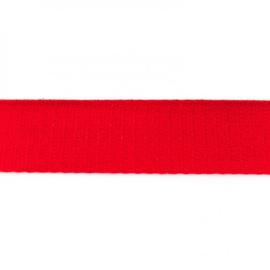 Tassenband Katoen | Rood | 4cm breed