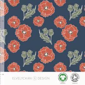 Elvelyckan design | tricot | Poppy  - Navy | Organic