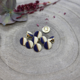 Atelier Brunette | Wink Buttons |  Off White - Cobalt