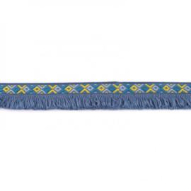 franjeband  ibiza style | jeansblauw