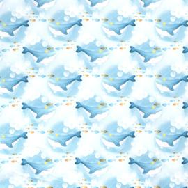 Softshell | Walvis met Kroontje - Aqua
