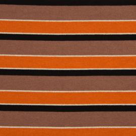 Knitted - Sparkling Stripe Christa -  Orange - Mocca