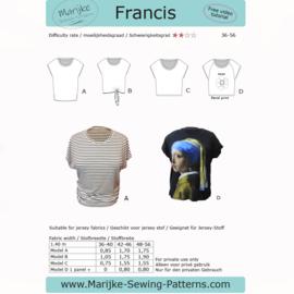 Marijke Sewing Patterns - Thirza - Maat 36-56
