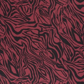 Tencel - Lyocell | Animal Print Tiger  - Cerise