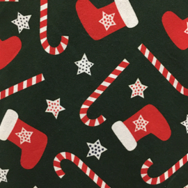 Tricot Print Swafing | Kerstsok - Green