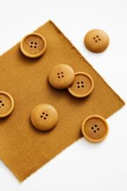 Mind the Maker | Blaze Corozo Button - 20 mm - Dry Mustard