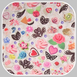 tricot  sweet digitale print