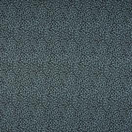Katoen Print | Leopard - Blue