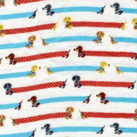 Kokka Fabrics | Double Gauze - Dachshund