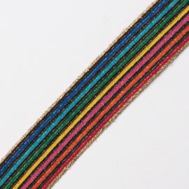 Elastiek streep | regenboog | 3 cm breed
