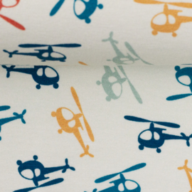 Swafing Tricot Print   Helicopter