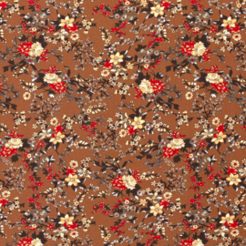 Viscose | Flowers  - Brique