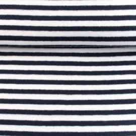 tricot boordstof gestreept | zwart