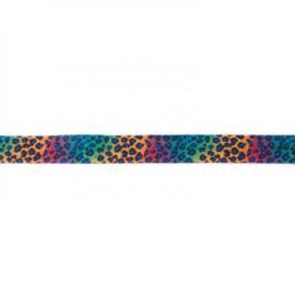 41243 elastisch biaisband tijger fantasie 15mm