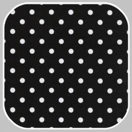 katoen Dot | S | zwart