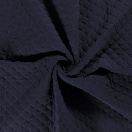 Double Gauze - Mousseline Quilted   Navy 008
