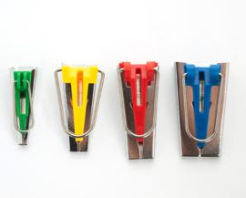 4 delige set om zelf biaisband te maken ( per set )  6 mm, 12 mm , 18 mm, 25 mm