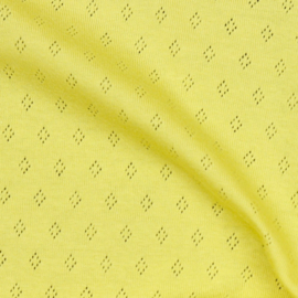 Pointelle | Tricot Ajour | Soft Yellow 010