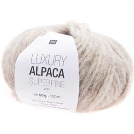 Rico Design - Luxury Alpaca Superfine Aran - Naturel 002