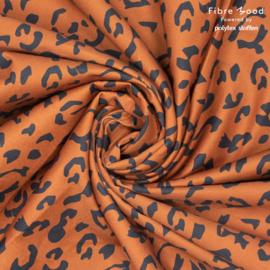 Fibremood  - Alida - Denim Leopard Print - Brown Black