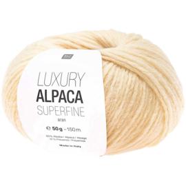 Rico Design - Luxury Alpaca Superfine Aran - Vanille 019