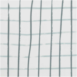Katoen print | Ruit -Grijs-Groen | Rico-Design