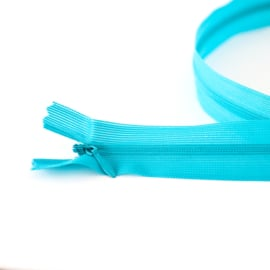 Blinde rits  | Turquoise  - 22 of 60 cm