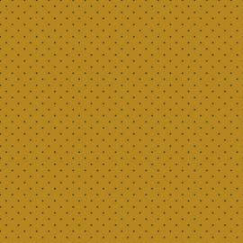 Tricot Gots | Mini Dots  |  Ochre - Navy