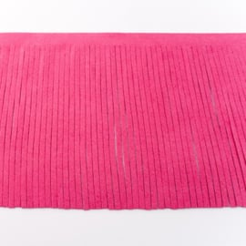 suedine franjeband |  fuchsia 28004 | 12 cm breed