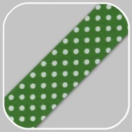 groen met polka dot-20mm/ per meter