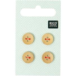 Rico Design | Houten Knoopjes - 4 stuks - 1,1 cm