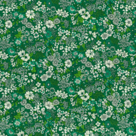 Kokka |  Retro Collection | Lawn |  Flowers -  Green