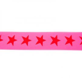 Elastiek  | 4 cm breed |  Roze - Rood
