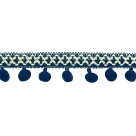 Bolletjesband | Cross - Donkerblauw 31612