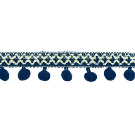 Bolletjesband | Cross - Donkerblauw 31612