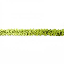 Paillettenband rekbaar   Lime