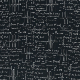 Katoen Print | Swafing -  Mathematics - Black