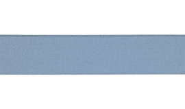 Elastiek uni | 4 cm | Dusty Blue