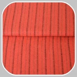 streep | rood-roze-grijs