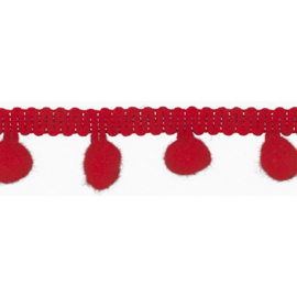 Bolletjesband - 15 mm - Red
